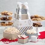 Mrs. Fields Holiday Silver & Gold Cookie Tower