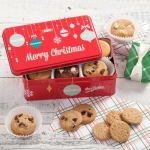 Mrs. Fields Merry Christmas 24 Nibbler Cookie Tin