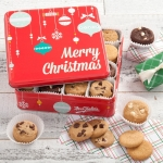 Mrs. Fields 60 Nibbler Merry Christmas Cookie Tin