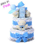 First Moments 2 Tier Diaper Cake