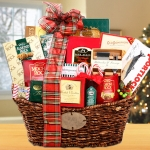Gourmet Greetings Christmas Gift Basket