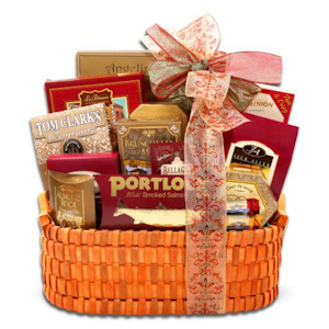 Handcrafted Holiday Gourmet Basket imagerjs