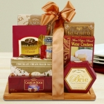 Burgundy & Gold Cutting Board Gift