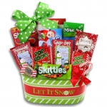 Let it Snow Basket of Holiday Goodies