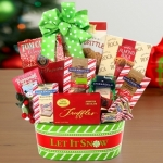 Let it Snow Christmas Basket of Sweets