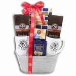 Holiday Warmth Coffee Bean & Tea Leaf Gift Basket