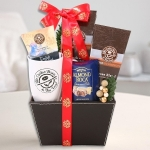 Coffee Bean and Tea Leaf Leather Gift Basket