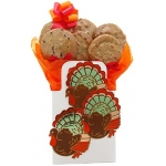 Turkey Tote Bag Cookie Bouquet Gift