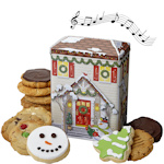 Musical Holiday House Cookie Tin