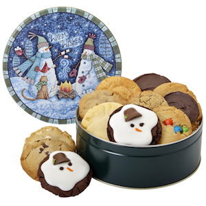 Warm Wishes Snowman Cookie Tin imagerjs