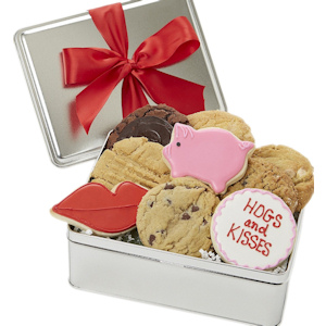 Hogs and Kisses Cookie Tin imagerjs