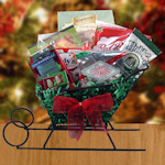 Seasonal Holiday Gift Sleigh of Treats