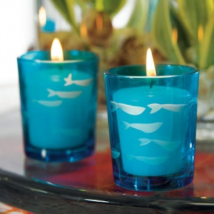 Blue Tropical Fish Candle Holder Favors (Set of 8) imagerjs