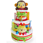 Wild Wilderness Three Tier Diaper Cake