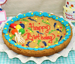 Personalized Happy Birthday Balloon Cookie Cake imagerjs