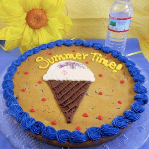 Ice Cream Cone Personalized Cookie Cake imagerjs