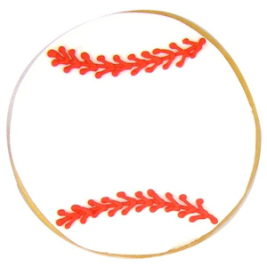 Baseball Decorated Sugar Cookie Favor imagerjs