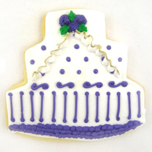 Three-Tier Wedding Cake Decorated Cookie Favor imagerjs