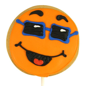 Orange Happy Face Decorated Cookie Favor imagerjs