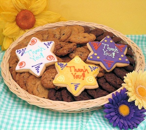 Thank You Stars Cookie Basket imagerjs