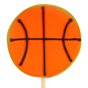 Basketball Decorated Sugar Cookie Favor imagerjs