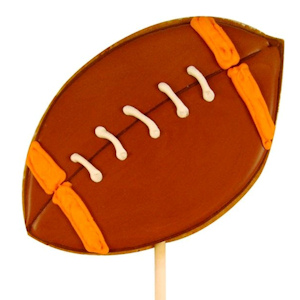 Football Decorated Sugar Cookie Favor imagerjs