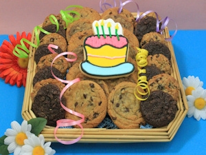 Birthday Bash Square Cookie Basket imagerjs