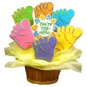 Toe-riffic Sugar Cookie Bouquet imagerjs