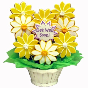 Get Well Daisies Sugar Cookie Bouquet imagerjs