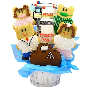 Thank You Doctors & Nurses Sugar Cookie Bouquet imagerjs