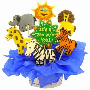 It's a Zoo Without You Sugar Cookie Bouquet imagerjs