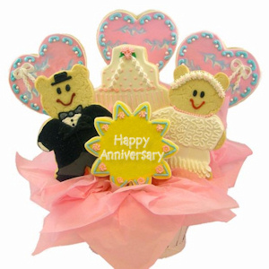 Anniversary Wishes Sugar Cookie Bouquet imagerjs