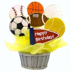 Have a Ball Sugar Cookie Birthday Bouquet imagerjs