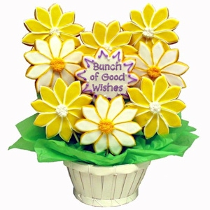 Bunch of Good Wishes Daisy Sugar Cookie Bouquet imagerjs