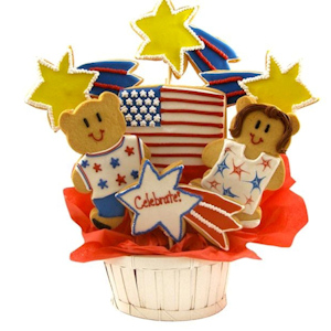 Happy Fourth of July Sugar Cookie Basket imagerjs