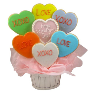 Candy Hearts Sugar Cookie Basket imagerjs