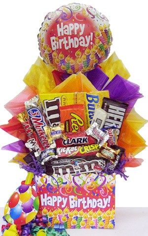 Chocolate Candy Birthday Basket image