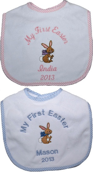 Personalized My First Easter Bib imagerjs