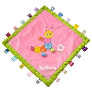 Personalized Pink Caterpillar Taggies Blanket imagerjs