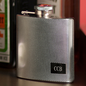 Textured Stainless Steel Flask imagerjs