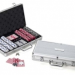 Poker Chip Set with Engraved Case