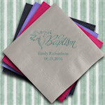 Personalized Baptism Printed Paper Napkins (Set of 100)