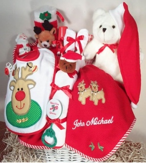 Personalized Christmas Baby Basket imagerjs