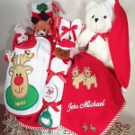 Personalized Christmas Baby Basket