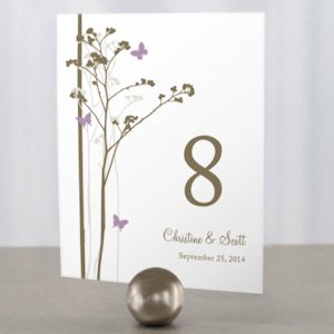 Romantic Butterfly Themed Table Numbers (9 Colors) image