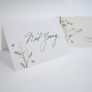 Romantic Butterfly Place Cards (Set of 6) image