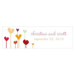Personalized Hearts Small Rectangular Tags (Set of 20) image
