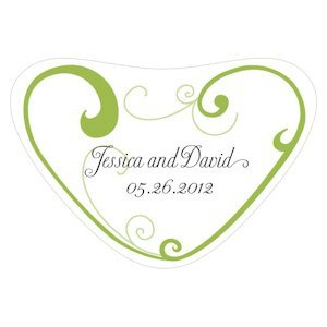 Heart Filigree Heart Container Sticker (11 Colors) image
