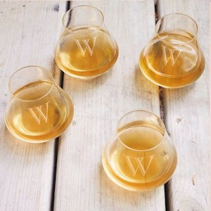 Personalized Contemporary Whiskey Glasses (Set of 4) image