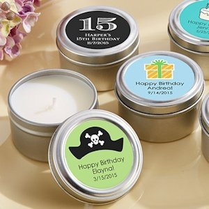 Travel-Sized Candle Birthday Favor Tins image